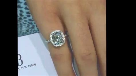 Spectacular 3 ct Cushion Diamond Engagement Ring in Halo