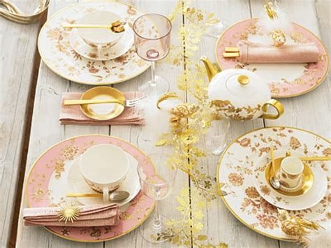 Pink And Gold Table Setting pink gold setting vintage wedding table
