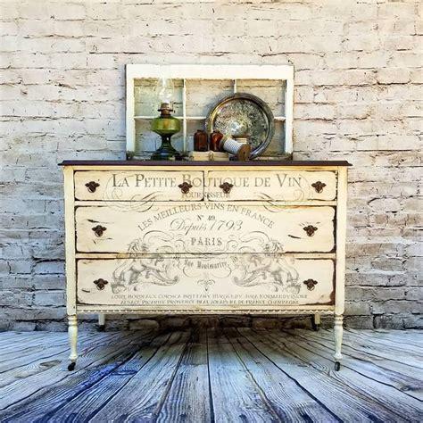stunning dresser stenciling  bone white chalk style