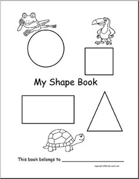 printable shapes booklet booklet shapes preschool primary abcteach