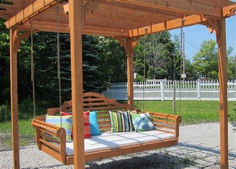 cedar pergola swing bed pin by parent outdoor on outdoor garden buildings pinterest