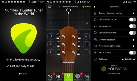 guitar apps for android 5 best android guitar tuner apps for guitarists