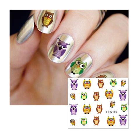 Stiker Kuku Nail Stiker 9 aliexpress buy zko 1 sheet nail water sticker colorful owl designs nail