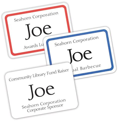 Avery Name Tag Templates by Name Badges Free Avery Design Print Personalize