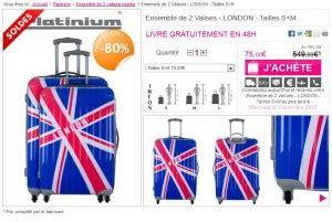 leclerc cadenas pour valise moins 80 ensemble de 2 valises rigides tailles s m