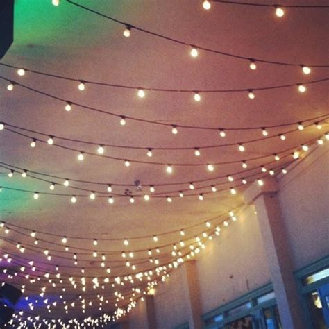 String Lights On Ceiling Lights Celebrate Pinterest