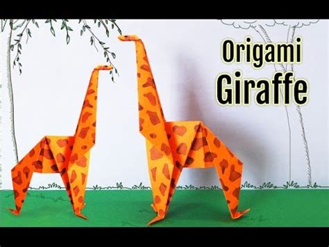 How To Make Paper Giraffe - origami giraffe how to make an origami giraffe step by