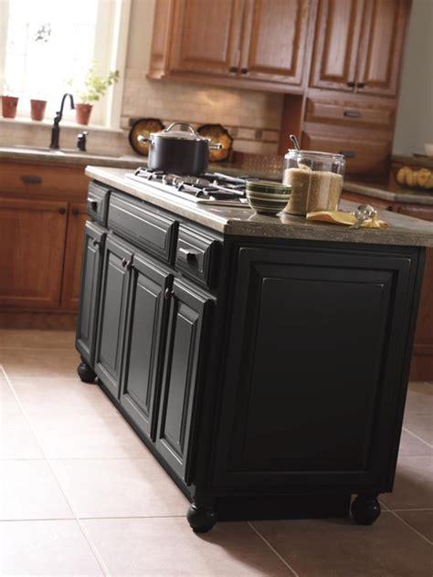 masterbrand kitchen cabinets schrock cabinetry brinkman oak sahara and maple black