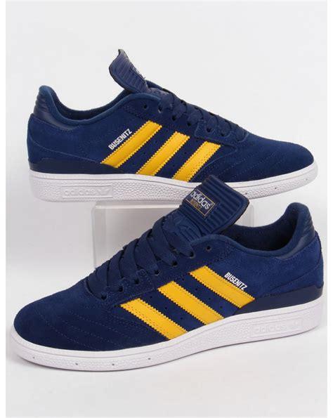 Adidas Busenit adidas busenitz trainers navy yellow white originals shoes
