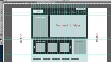 how to wireframe using 960 gs illustrator how to mock up using the 960 grid system youtube