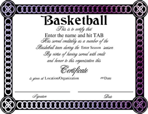 doc 642497 sport certificate templates for word sports