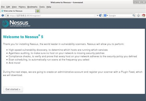 default nessus port installing and using nessus on kali linux tenable