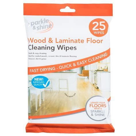 Wood & Laminate Floor Cleaning Wipes 25pk   Cleaning   B&M