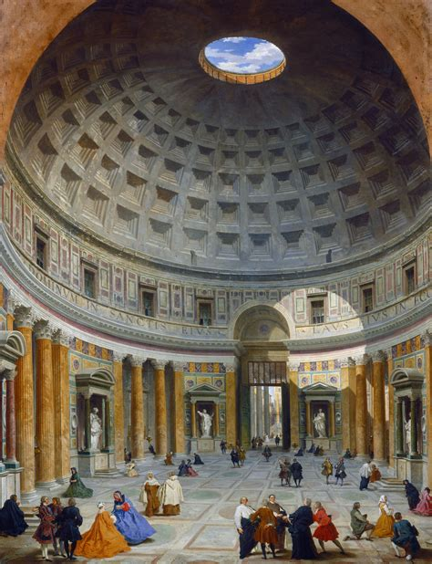 file paolo panini interior of the pantheon