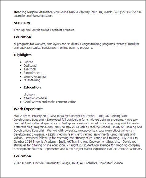 Employee Development Specialist Cover Letter by And Development Specialist Resume Template Best Design Tips Myperfectresume