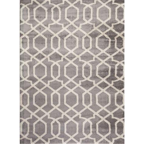 home design 7 x 10 world rug gallery contemporary trellis design gray 7 ft