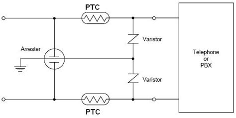 ptc resistor circuit positive temperature coefficient thermistor for telecom current protection