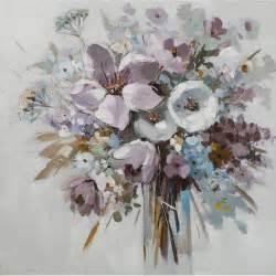 tableau fleurs bouquet dans vase m1 peinture acrylique