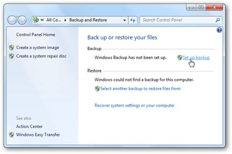 windows image backup how to use backup and restore in windows 7
