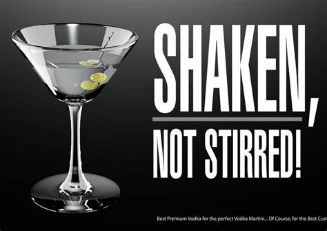 vodka martini shaken not stirred james bond s martini consumption would have compromised