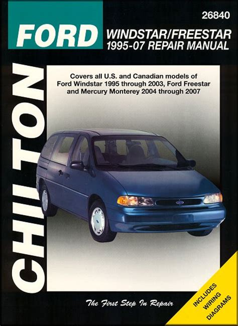 auto manual repair 2003 ford windstar electronic toll collection ford windstar freestar mercury monterey repair manual 1995 2007
