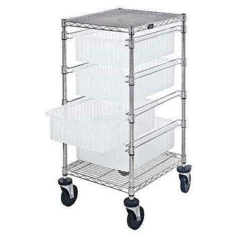 Storage Bin Cart Quantum Storage Bc212434m1cl Mobile Bin Cart 45 In H