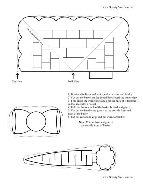5 best images of printable easter basket craft kids