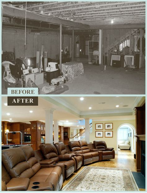 before and after basements basement renovation