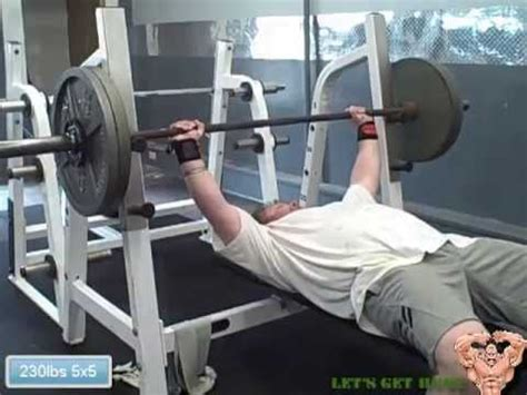 bench 5x5 5x5 workout bench press hang power cleans barbell rows triceps calves youtube