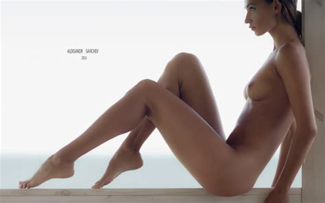 Photo Brunette Nude Tits Side View Sitting Sexy Legs Wallpaper