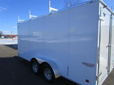Ladder Rack For Enclosed Trailer by 2018 Bravo 7x16 Enclosed Contractor Trailer W Ladder Racks