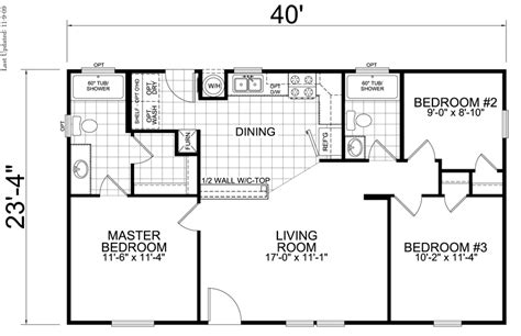 House Plans With 3 Bedrooms 2 Baths by 3 Bedroom 2 Bath House Plans 1286 Square 3 Bedrooms 2