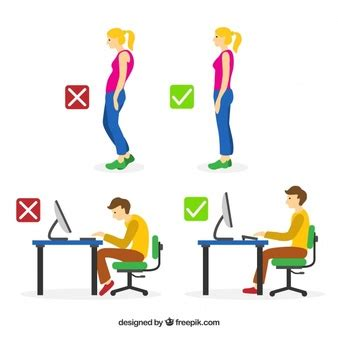 7 Tips For Improving Your Posture by Sitting Posture Vectors Photos And Psd Files Free