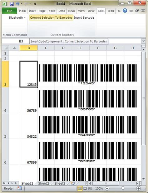 Excel Serial Number To Barcode Excel Inventory Template With Barcode