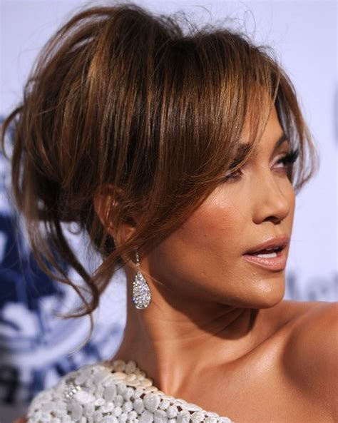 haircuts for any face shape jennifer lopez hairstyles modern loose bun for any face