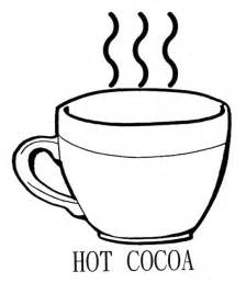 drinking chocolate cocoa coloring kids coloring pages crafts