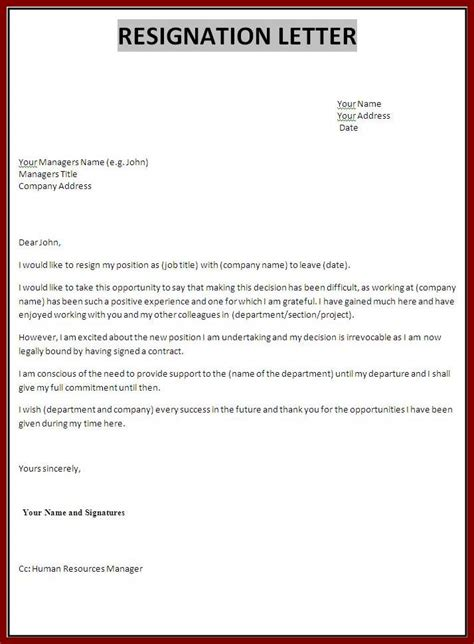 Professional Letter Of Resignation Template by Professional Resignation Letter Template Cover Letter Templates