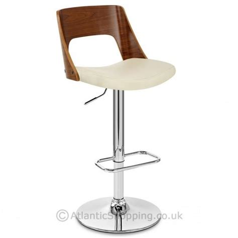 Real Leather Bar Stool Wooden Real Leather Kitchen Breakfast Bar Stool Ebay