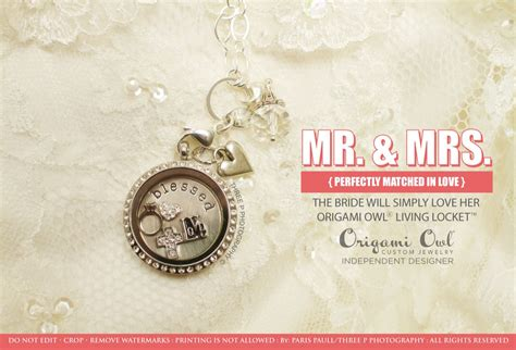 Origami Owl Wedding Locket - origami owl lockets make the bridesmaid gift