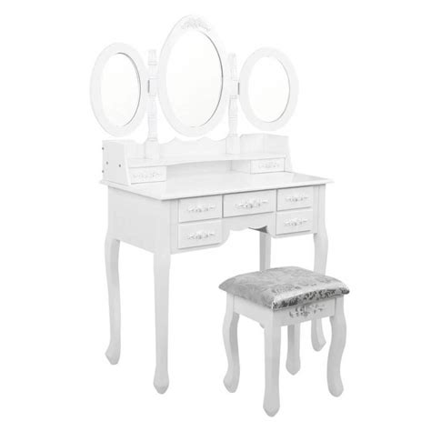Kitchen Cabinets Deals white makeup dressing table w 3 mirrors amp stool buy