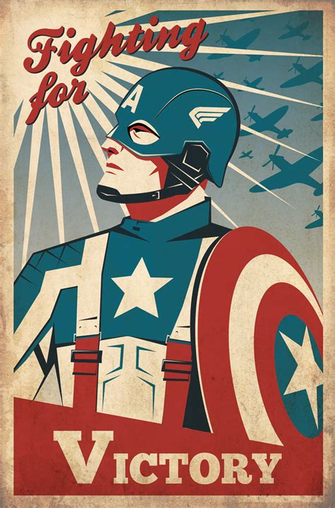 Captain America Vintage 14 fashion and more great captain america fan posters