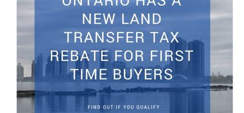 Ontario Government Programs For Time Home Buyers by Mortgage Experience