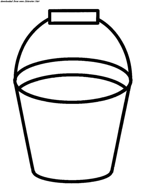 bucket coloring page az coloring pages