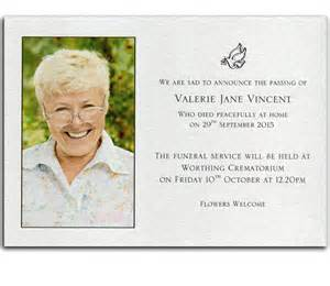 personalised stationery and cards by heritage stationery bereavement announcement card no 9