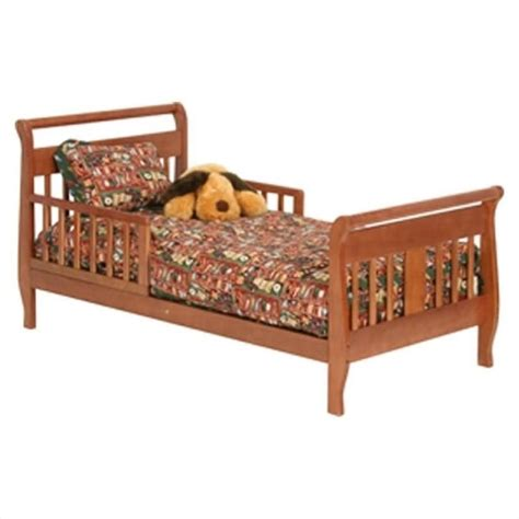 Sleigh Toddler Bed Soom Soom Sleigh Toddler Bed In Cognac Brown