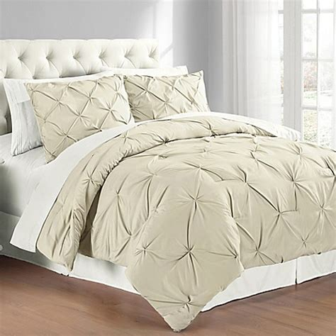 pintuck bedding pintuck comforter set bed bath beyond