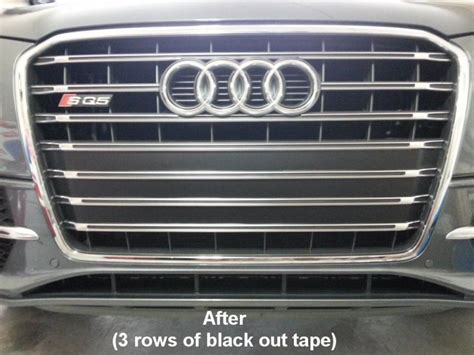 audi q7 front license plate holder sq5 mod front license plate removed holes covered