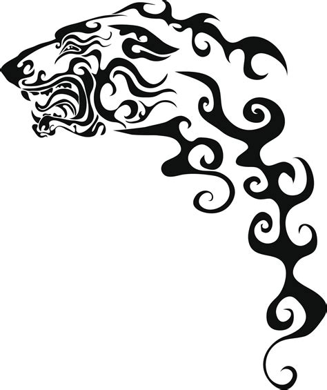 tribal dog tattoo these tribal animal tattoos will showcase the wildness in you