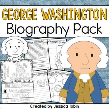 george washington biography esl george washington biography pack by jessica tobin