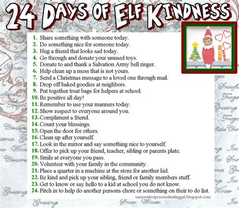 5 Calendar Days Meaning 24 Days Of Kindness A List For A Deed A Day